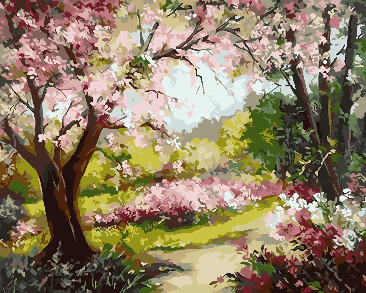 Картина по номерам Весенний сад, 40x50 см., Art Story