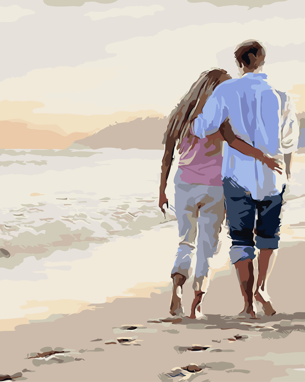 Картина по номерам Прогулка по пляжу, 40x50 см., Art Story