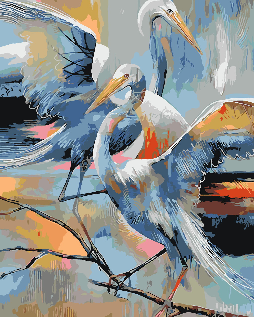 Картина по номерам Аисты, 40x50 см., Art Story