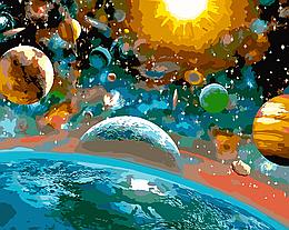 """Картина по номерам """"Красота вселенной"""", 40x40 см., Art Story"""