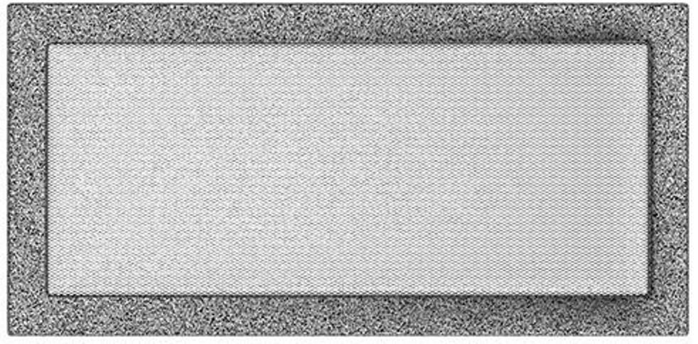 Решетка Kratki черное серебро 22/45