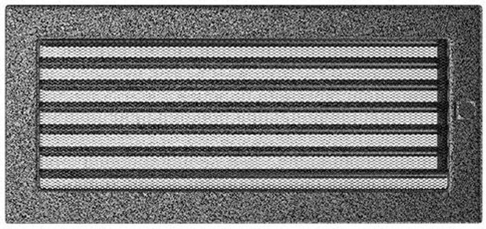 Решетка Kratki черное серебро 17/37 с жалюзи