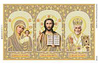Схема для вышивки бисером Иконостас (золото)