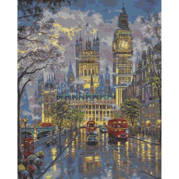 Картина по номерам Дворец Вестминстер, 40x50 см., Идейка