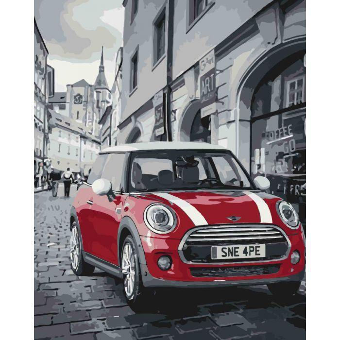 Картина по номерам Mini Cooper, 40x50 см., Идейка