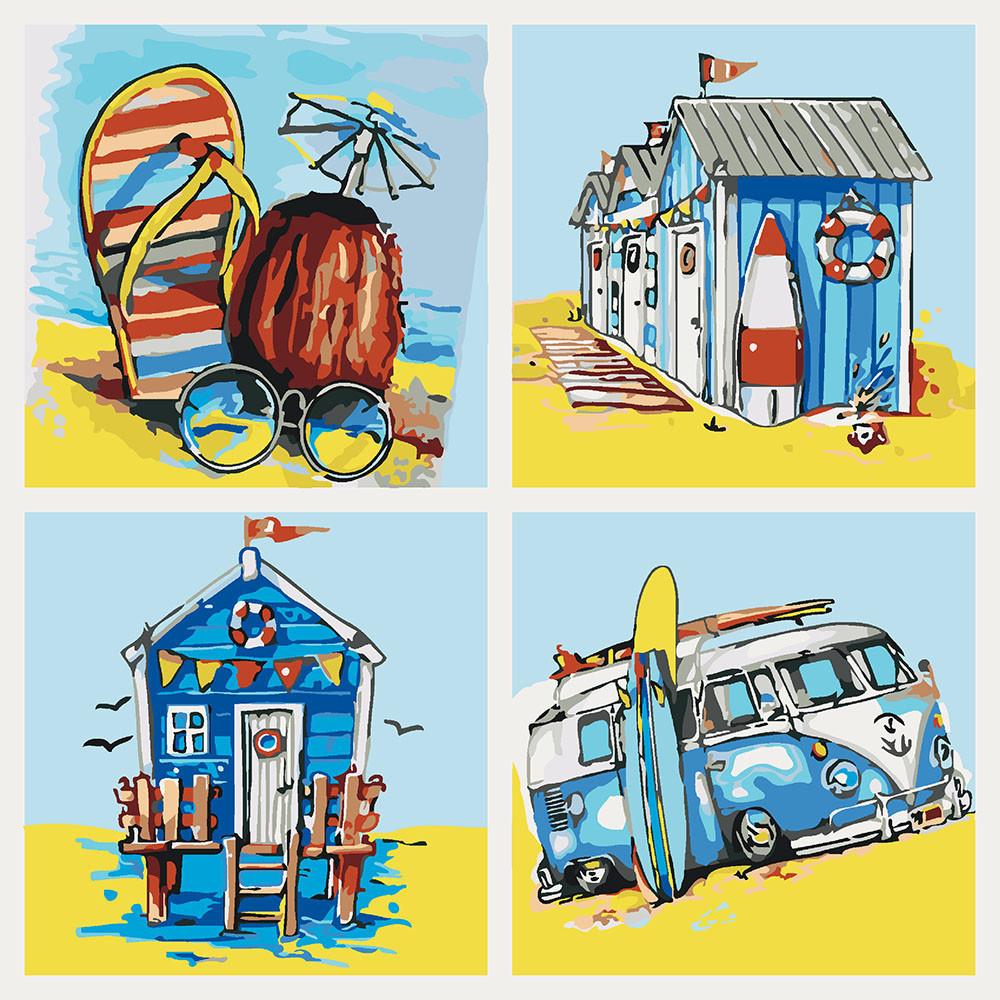 Картина по номерам Летние приключения, 40x40 см., Идейка