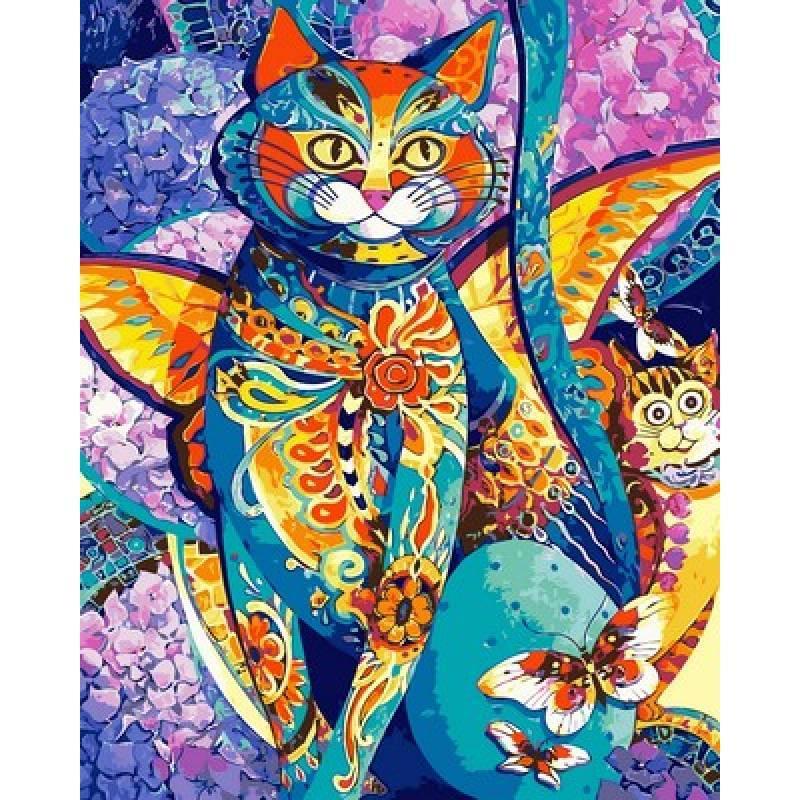 Картина по номерам Чеширский кот, 40x50 см., Babylon Premium