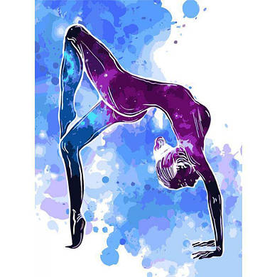 """Картина по номерам """"Звездная йога"""", 30x40 см., Идейка"""