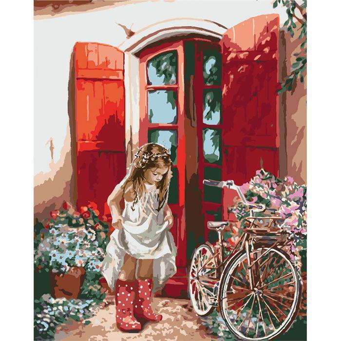 Картина по номерам Маленькая принцесса, 40x50 см., Идейка