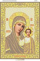 Схема для вышивки бисером БМ Казанская (золото)