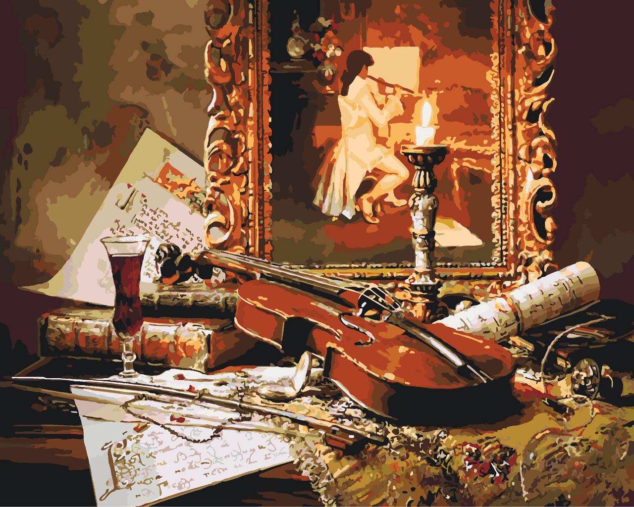 Картина по номерам Звучание скрипки, 40х50 см., Идейка