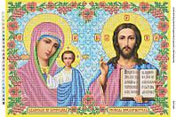 Схема для вышивки бисером БМ Казанская и Иисус Христос
