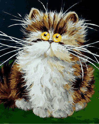 Картина по номерам Пушистый котенок. Худ. Ким Хаскинс, 40x50 см., Babylon
