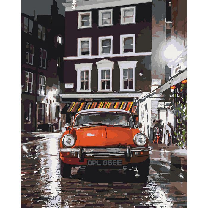 Картина по номерам Итальянский автомобильчик, 40х50 см., Идейка