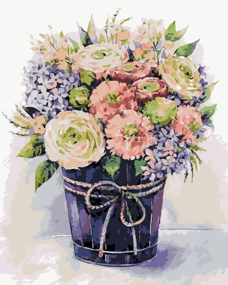 Картина по номерам Нежные цветы,  40x50 см, ArtStory