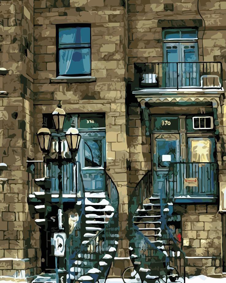 Картина по номерам Городской дом,  40x50 см, ArtStory
