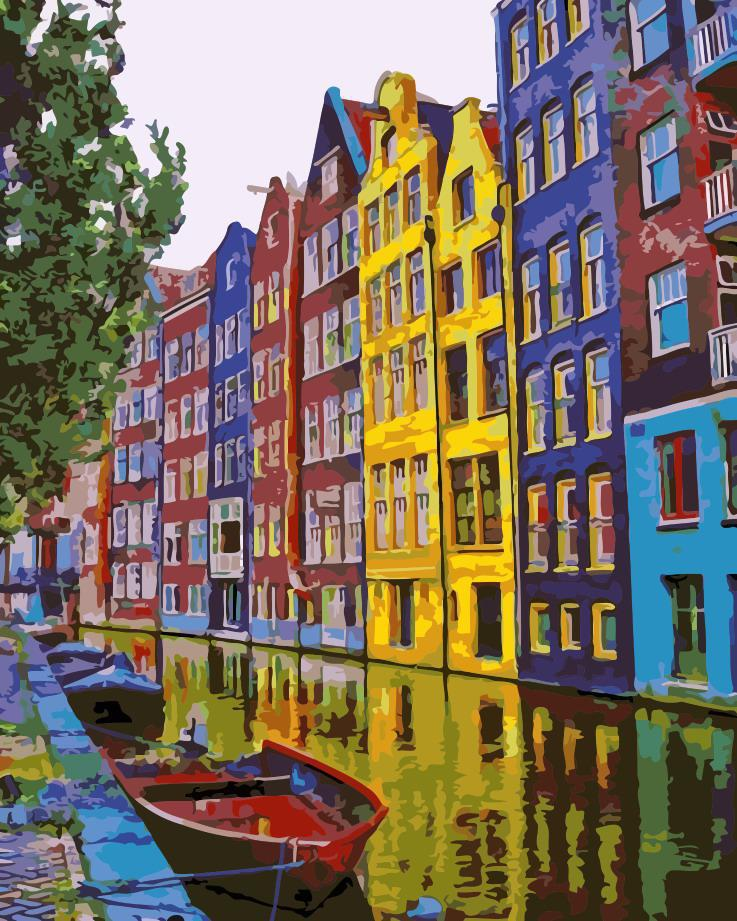 Картина по номерам Краски Амстердама,  40x50 см, ArtStory
