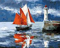 Картина по номерам Алые паруса,  40x50 см, ArtStory