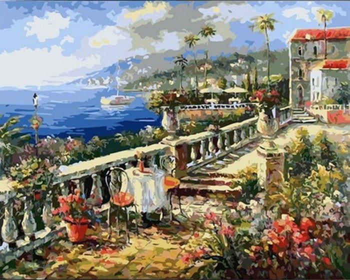 Картина по номерам Итальянское лето, 40x50 см., Babylon Premium