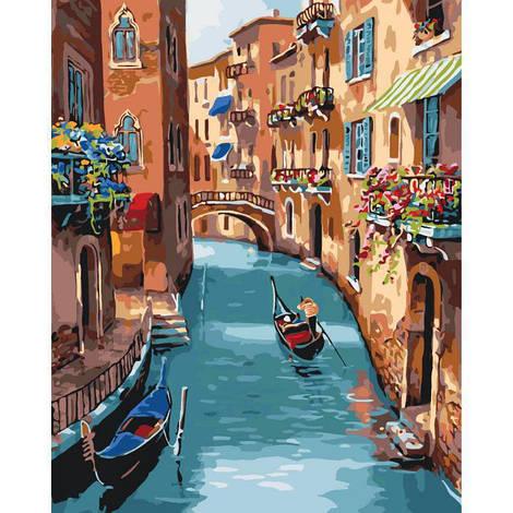 """Картина по номерам """"Солнечная Венеция"""", 40x50 см., Идейка"""