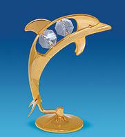 Фигурка с кристаллами Сваровски Дельфин 8,5 см AR-3106