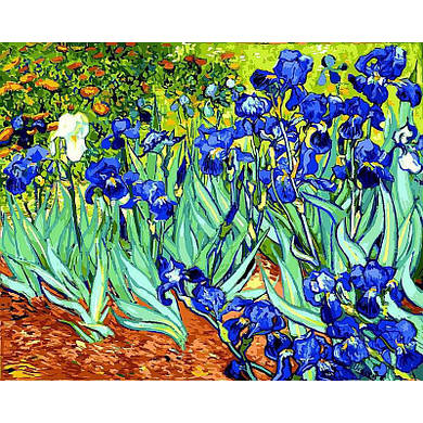 """Картина по номерам """"Ирисы. Худ. Винсент Ван Гог"""", 40x50 см., Babylon Premium"""