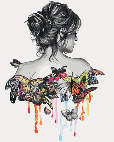 """Картина по номерам""""Нежность бабочки"""", 40х50 см., Идейка"""