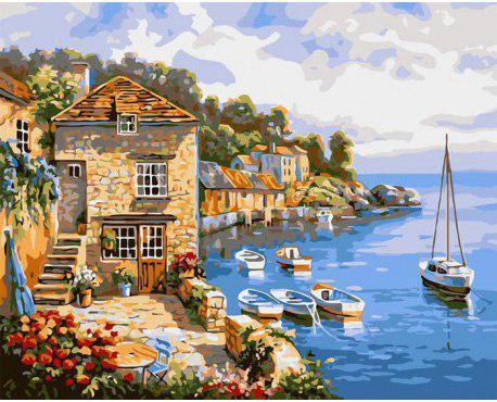 Картина по номерам Морское побережье, 40х50 см., Rainbow Art