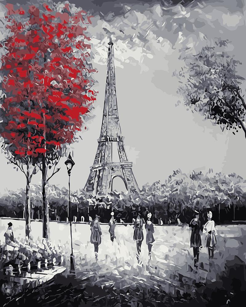 Картина по номерам Прогулка к Эйфелевой башне, 40х50 см., Rainbow Art