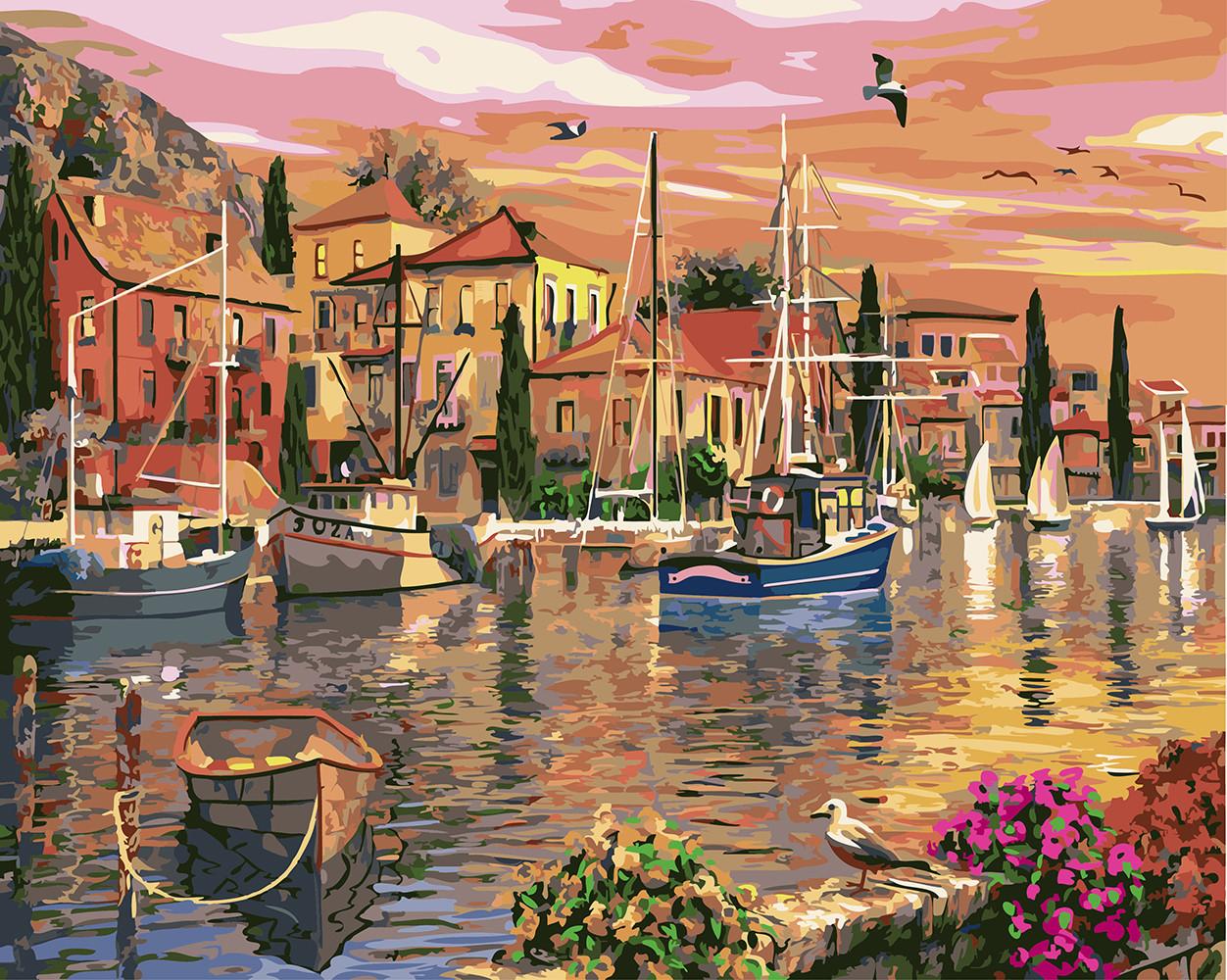 Картина по номерам Рыбацкая деревушка, 40х50 см., Rainbow Art