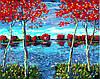 "Картина по номерам ""Деревья на пруду"", 40х50 см., Rainbow Art"