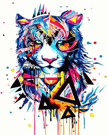 """Картина по номерам """"Красочный тигр"""", 40х50 см., Rainbow Art"""