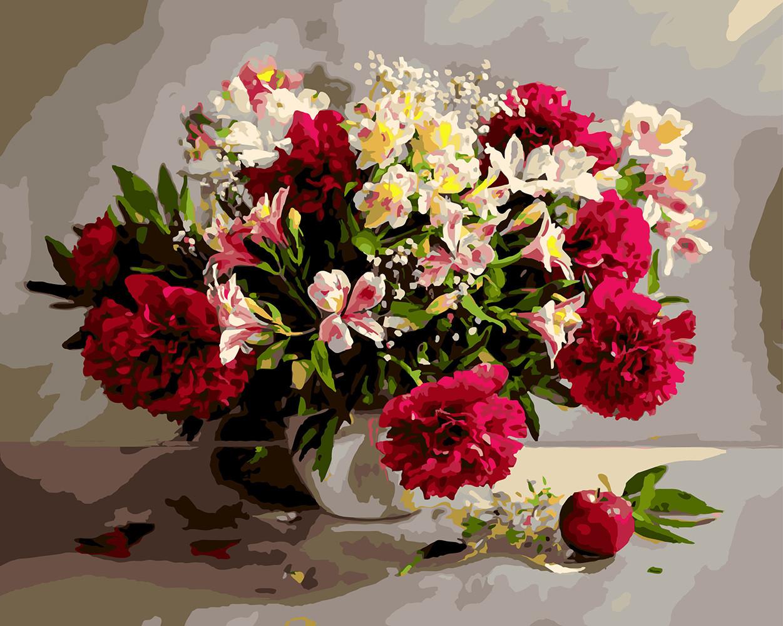 Картина по номерам Цветочное великолепие, 40х50 см., Rainbow Art