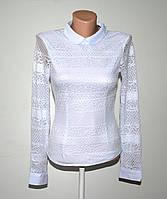 Нарядная школьная блуза для девушки L-XXL (38-44) длинный рукав