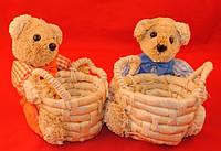 Корзинка плетеная Мишка для мелочей