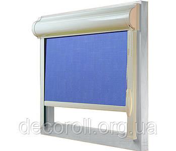 Кассетные рулонные шторы в коробе, с П-образными направляющими