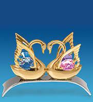 Фигурка с кристаллами Сваровски Лебеди 9 см AR-1023/ 1