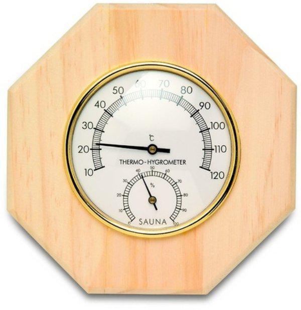 Термогигрометр для сауны Bonfire WJ-09 металлический в дереве