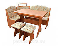 Кухонный уголок с простым столом Сенатор
