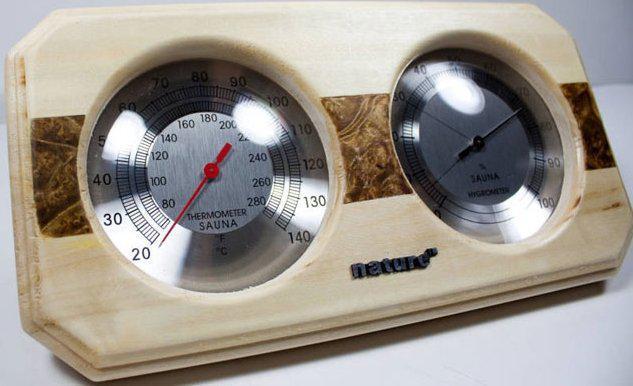 Термогигрометр для сауны Bonfire WJ-10C со вставкой