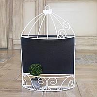 Настенный декор грифельная доска клетка 47 см Гранд Презент 9092015