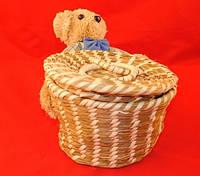 Корзинка плетеная Мишка