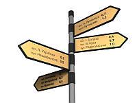 Указатель улиц, уличный информационный указатель 800х250мм (Количество  табличек: 4шт; )