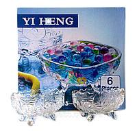 Набор овальных стеклянных салатниц (130мм*85мм) 6 шт.