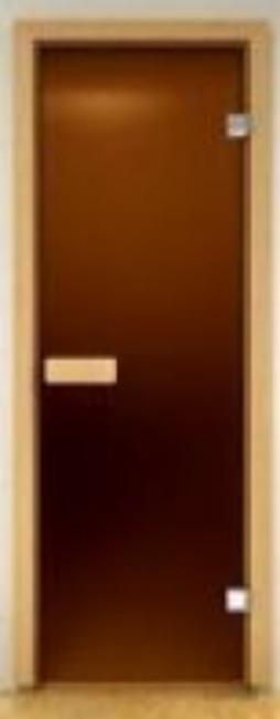 Стеклянная дверь для сауны Украина 70х190 матовая бронза