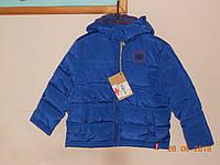 Голубая куртка на мальчика на фланелевой  утепленной подкладке Lee Cooper, фото 1