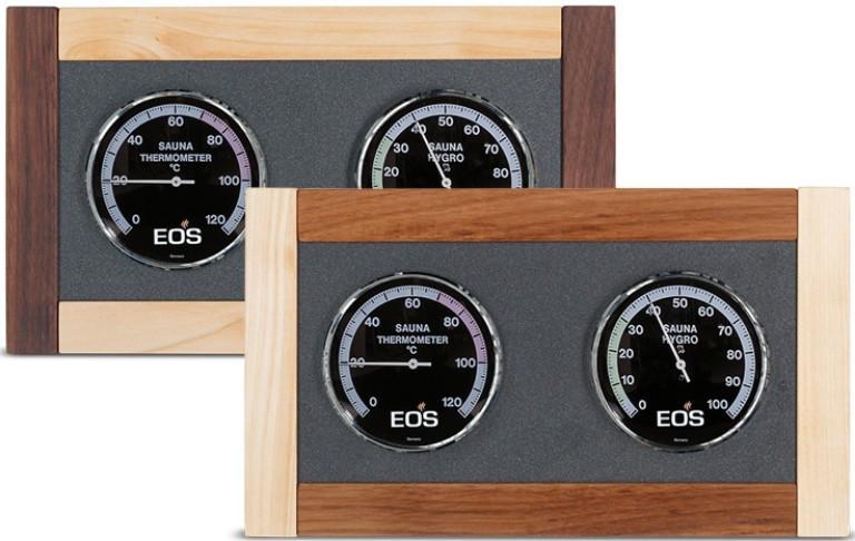 Термогигрометр для саун и бань EOS Excellent 100 DL (орех+клен)