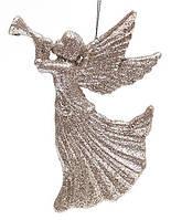 Елочное украшение Ангел 12см цвет - шампань (788-308)
