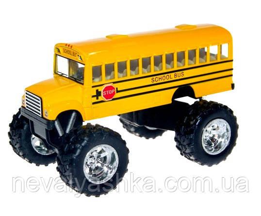 Kinsmart металлическая машинка Кинсмарт Школьный Автобус School Bus OFF ROAD, KS5108W, 008948
