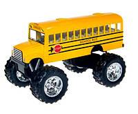 Kinsmart металлическая машинка Кинсмарт Школьный Автобус School Bus OFF ROAD, KS5108W, 008948, фото 1